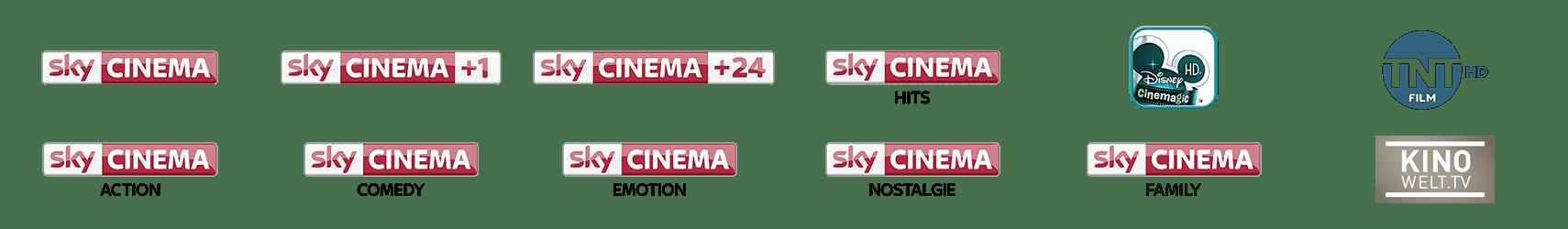 Sender im Sky Cinema Paket