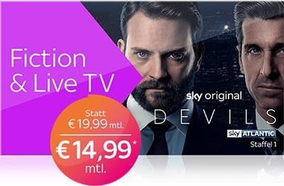 Sky X Fiction & Live TV Angebot