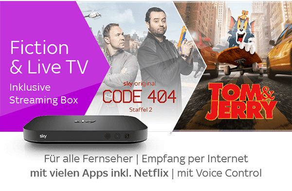 Sky X Fiction & Live TV + Streaming Box Angebot