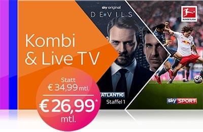 Sky X Kombi & Live TV Angebot