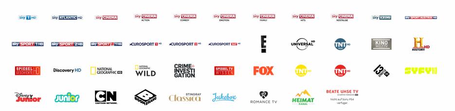 Sky X Premium-Channels in der Übersicht