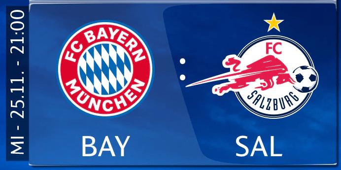 FC Bayern München vs. RB Salzburg: Am 25.11. live & exklusive bei Sky
