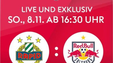 Rapid Wien vs. RB Salzburg: Am 8.11. live bei Sky