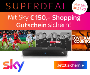 Sky Black Friday: 150 € Shopping Gutschein