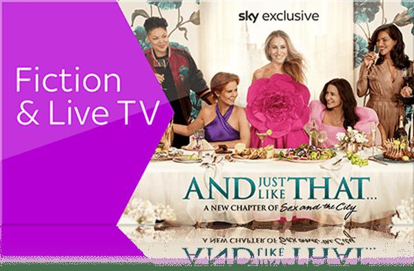 Sky X Fiction & Live TV: 6 Monate für 12 €